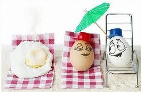 hahaha telurnya berjemur yg pake payung biasa aja tapi yg enggak pakai payung jadi telur mata sapi!