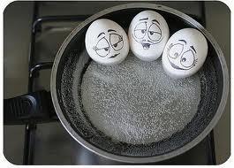 telurnya lagi mandi air panas :D!