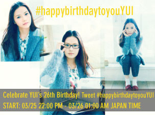 Celebrate YUIs 26th Birthday