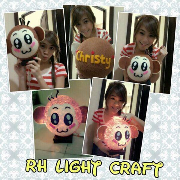 Si kici lagi bikin lampu hias RH LIGHT CRAFY nih....sekalian liat caranya yuk.....WoW kan???