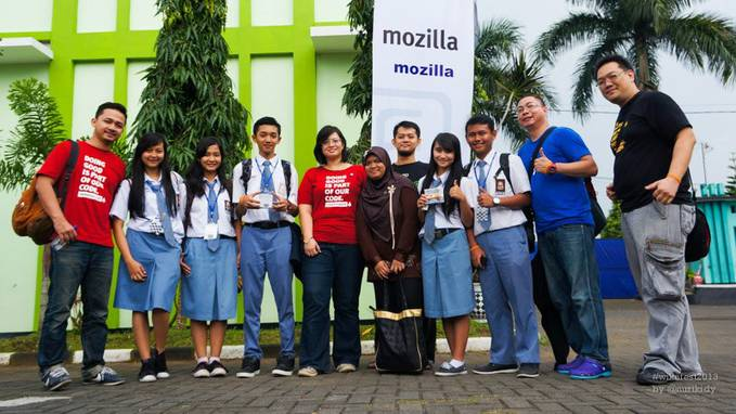 Wikusama Festival ke dua 2013 at SMK TELKOM SANDHY PUTRA MALANG , with Mozilla Representative Team