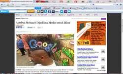 Rambut Mohawk Dijadikan Media untuk Iklan (Andyta Fajarini)