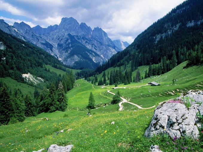Pemandangan Alam Taman Nasional Berchtesgadener, Alpen, Jerman