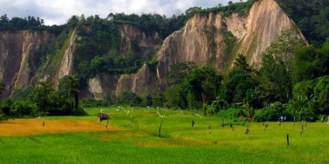 Keindahan alam Ngarai Sianok di Bukittinggi, Sumatera Barat.