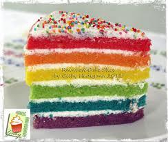 its my FAVORITE . cake :) Rainbow ...Yummy
