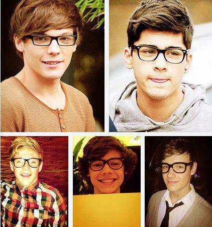 Niall sma Liam gk cucok pke kacamata, yg cucook cuman bang Zayn sma bang Lou