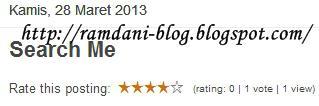 Membuat Vote Rating Artikel Blog|Read More...Membuat Vote Rating Artikel Blog