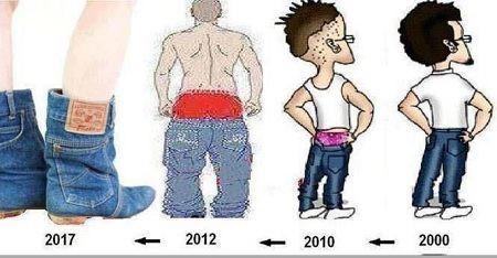 Transformasi jeans dari waktu ke waktu