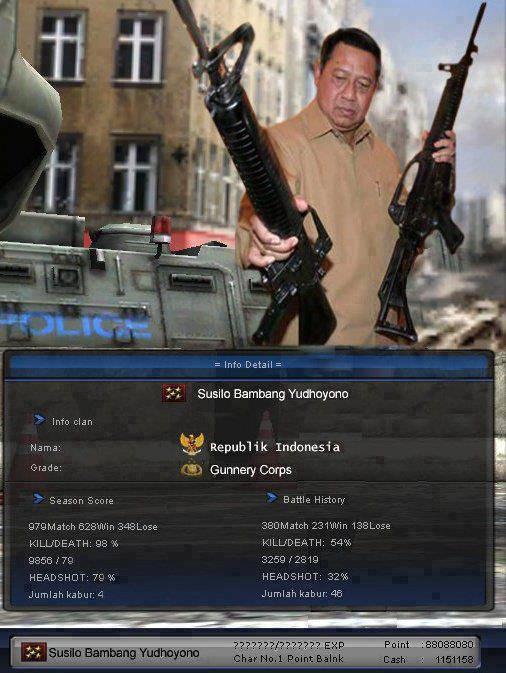 Masih Ingat Game Ini,Presiden Susilo Bambang Yudhoyono juga ikut maen Game Point Blank