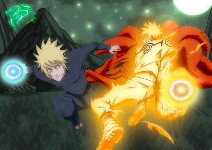 Pertarungan antar ayah dan anak beradu Rasengan, Kira kira siapa yang akan menang ?