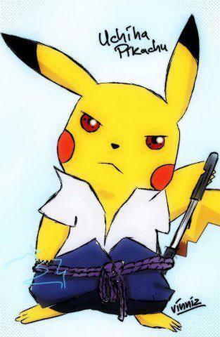 keren mana uchiha sasuke apa uchiha pikachu