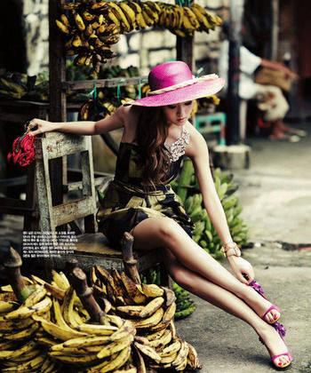 Jessica SNSD ke salah satu pasar di Bali..