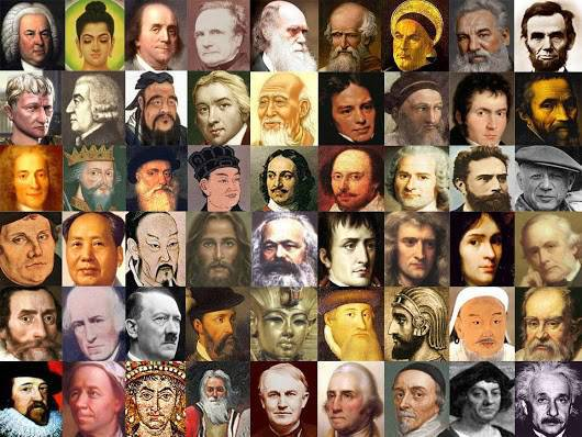 100 Tokoh paling berpengaruh dalam sejarah 01. Muhammad - pendiri Islam, penguasa Arabia 02. Isaac Newton - fisikawan, pencetus teori gravitasi umum, hukum gerak 03. Yesus - pembawa agama Kristen 04. Siddhartha Gautama (Buddha) - pendiri agama