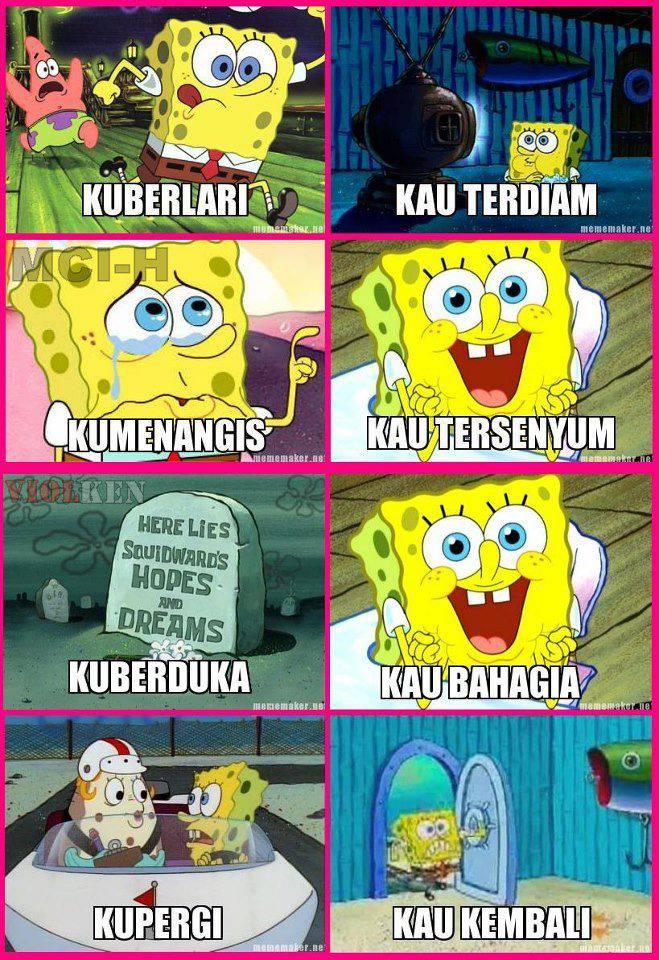 Spongebob Bernyanyi