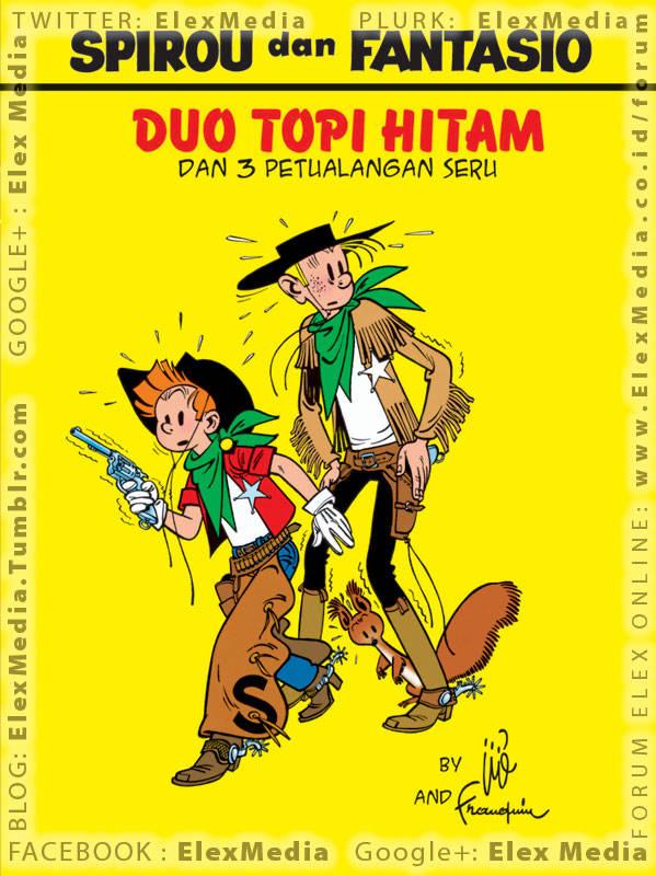 Kali ini Spirou & Fantasio menjadi koboi & menghadapi bandit2 gurun di Wild West! LC: SPIROU - Duo Topi Hitam http://ow.ly/jJuEY