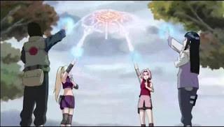 Jurus Apakah ini?? Jurus ini dilakukan oleh Hinata, Ino, Sakura, daaaannnn Shizune
