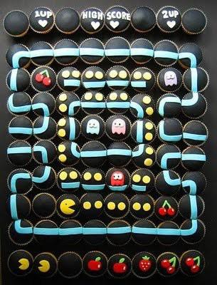cupcake unik seperti permainan PACMAN WOW