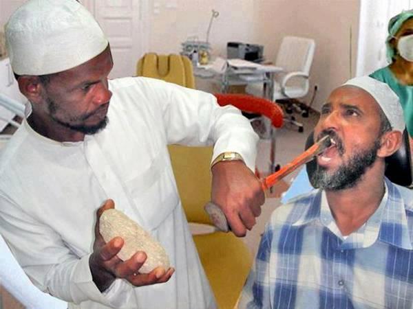 Bayang kan Jika gigi Anda Di Cabut Kaya Gambar Ini?