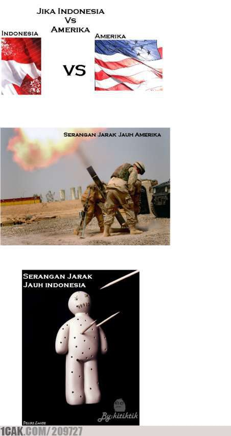 jika Indonesia VS Amerika Indonesia pkek santet.. wkwkwkwkwkwk XD by : kitiktik