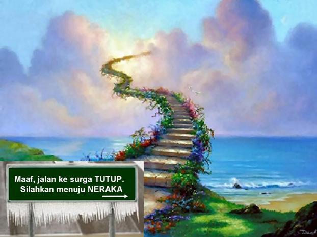tangga arah ke surga niih siapa yang mau kesono jangan lupa WOW nya