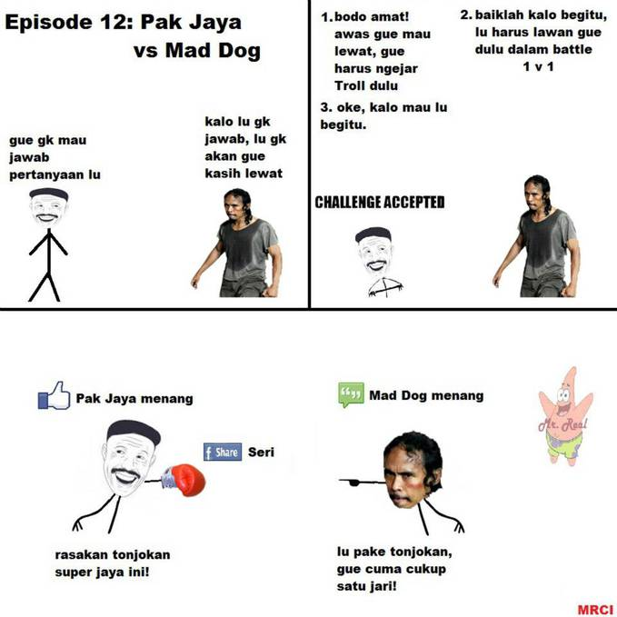 Comic episode 12: Pak Jaya v Mad Dog.