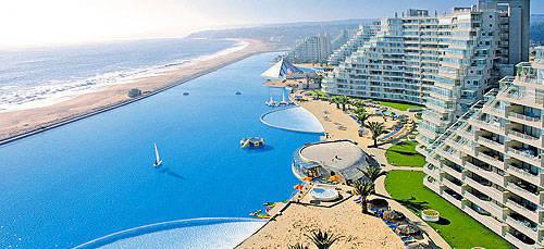 Kolam renang terbesar dan terindah di dunia . (San Alfonso Del Mar, Chile)