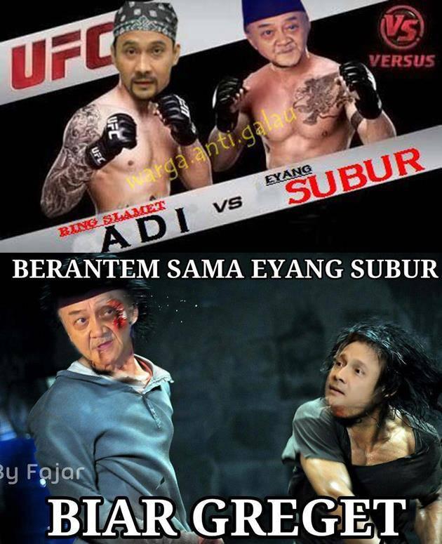 Adi bing slamet vs Eyang subur :D