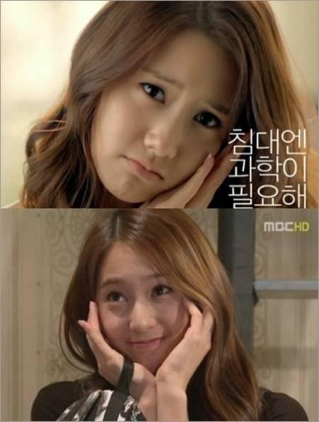 menurut kalian mirip gk yoona ama krystal..? unyu an siapa ?