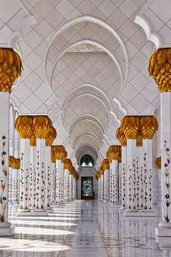 Mesjid Sheikh Zayed Di Abu Dhabi United Arab Emirates