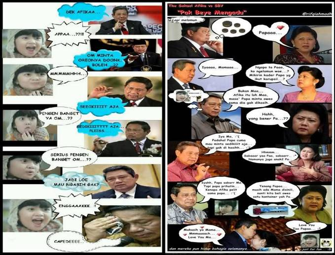 Afika vs SBY..hehehe...just for Fun WOWnya donk gan...