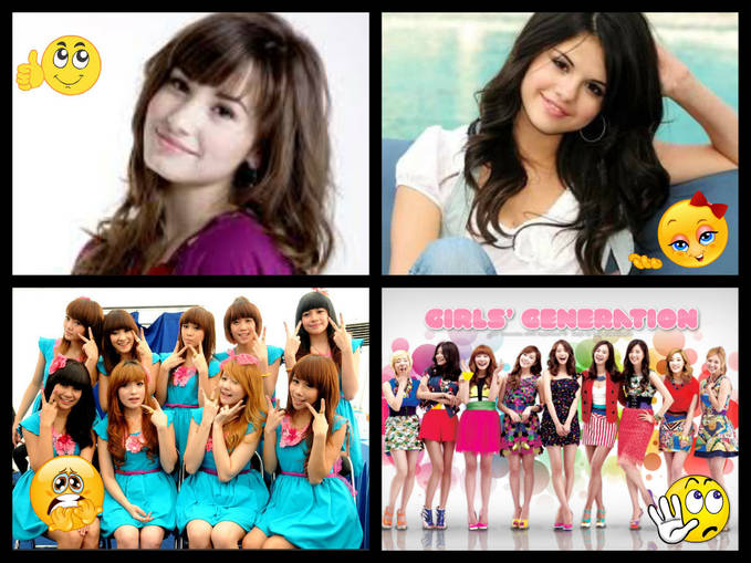 Cherry belle oplas, SNSD oplas. But Demi Lovato and Selena Gomez gak oplas tapi gak kalah cantik dan g kalah bagus juga suaranya