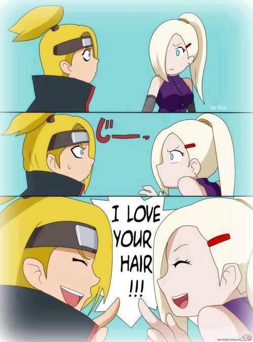 Ternyata rambutnya Deidara sama rambutnya Ino sama !! :D wkkw