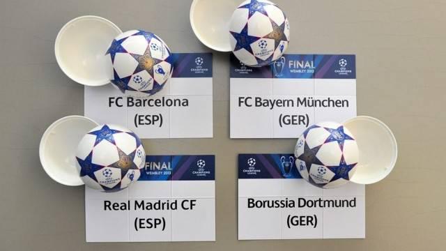 Barcelona Vs Bayern Munchen Real Madrid Vs Borussia Dortmund Semi Final