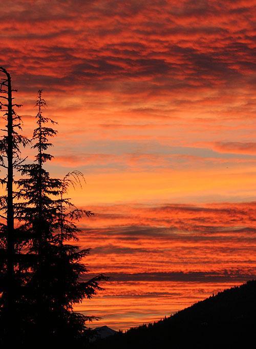 Mountain sunset..