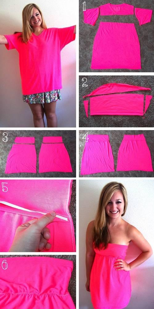 Kaos biasa bisa jadi dress cantik kaya gini , silahkan dicoba WOWnya ya ;)