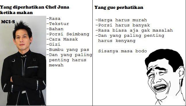 Perbedaan Chef Juna dan Manusia biasa.