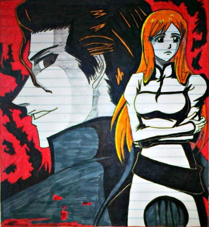 Bleach Orihime and Aizen Fan-Art by me