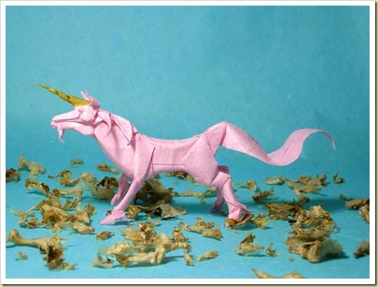 Seni Origami (Unicorn)