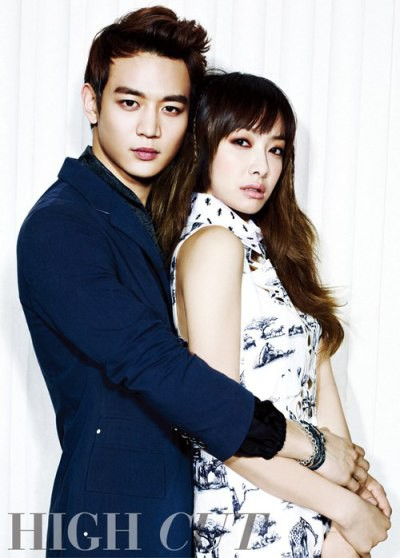 "Minho SHINee dan Victoria f(x) for ""High Cut"" Magazine"