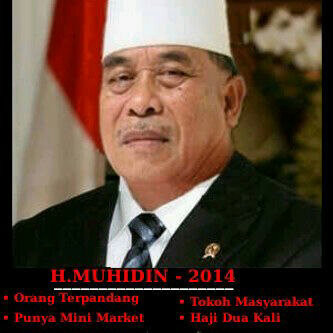 Haji Muhidin ga puas dengan jabatan ketua RW dan maju jadi capres 2014