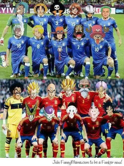 One Piece Football Club vs Dragon Ball Z Football Club Kalo lucu klik wow !!!