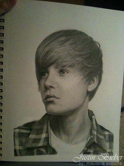 Justin Bieber Sketch Mode Cuma make pensil 2b dan Hb Yang fansnya JB Wownya Donk XD...