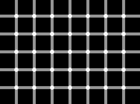 lihat gambar ini, apakah bulatannya berkedip-kedip?