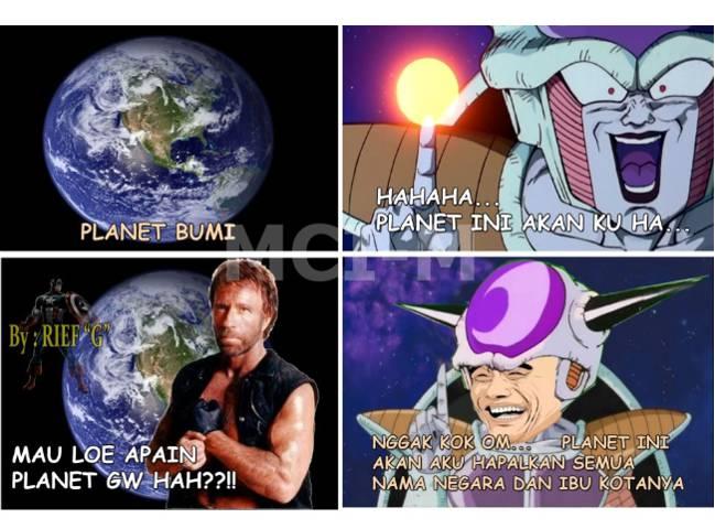 Chuck Norris lebih kuat dari super saiya Goku