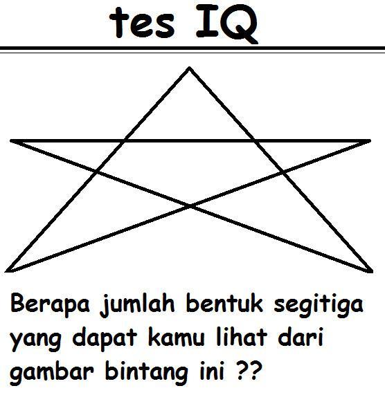 tes IQ jika jawaban kamu benar maka akan ada like di komentar km.. like fans pages kami---> https://www.facebook.com/pages/Info_X/221889127839930 dapatkan info menarik dan unik