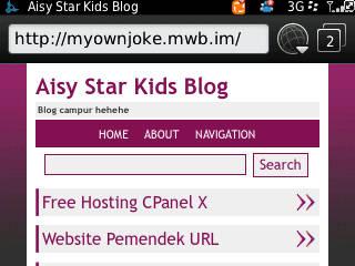 Ini dia blog saya . http://myownjoke.mwb.im