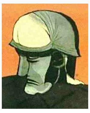 Melihat wajah seorang prajurit dan seorang pria yang membungkukdi bawah ilusi mata.....?????? :o kalau tahu, wownya donk...... 8)