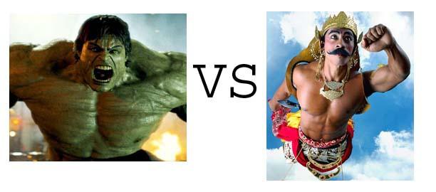 hulk vs gatot kaca siapakah yang menang ??
