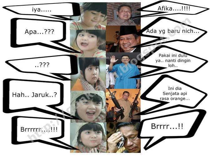 percakapan AFIka dan pak SBY. WOW