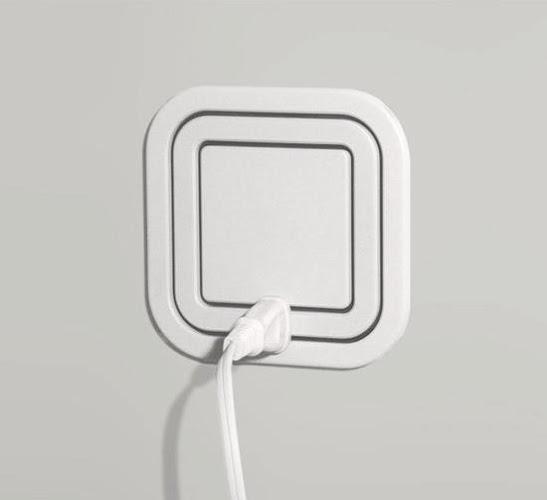 Node Electric Outlet mengatasi kebutuhan anda akan kekurangan strip. Hanya pasang di mana saja di keliling kotak. Efensien. - via LJ